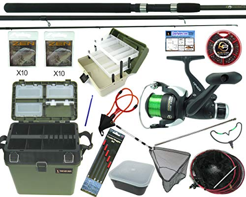 Beginners Starter Coarse Float Fishing Kit Set - 10ft Carbon Rod, Reel,...