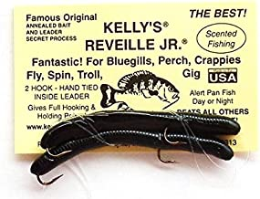 Reveille, Jr. Kelly's Bass Worms BlackBerry Black - 6 Count