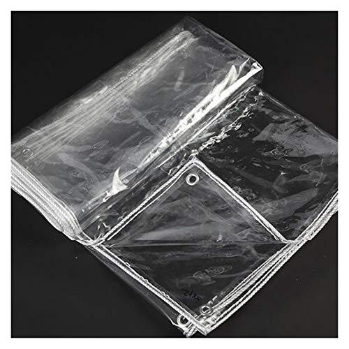 XXIOJUN Lona Impermeable Resistente, Lona De Plástico PVC Impermeable con Ojales, Resistente Al Desgarro Plegable A Prueba De Viento Y Lluvia para El Hogar Jardín Al Aire Libre