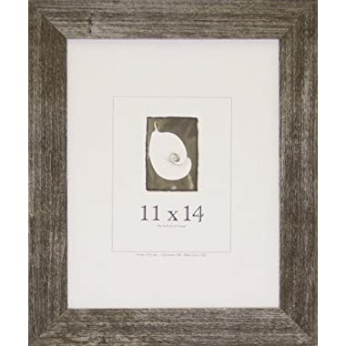 11x14 Farmhouse Barnwood Picture Frame w/Real Glass - Available in 2 Colors! (Charcoal)