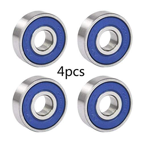 ALONGB Rodamiento Rodamiento 608RS ABEC 9 Rodamiento de Rodillos (4 Piezas)