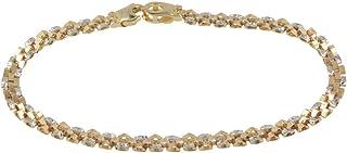 Pulsera de oro amarillo y blanco con diamantes - Gioiello Italiano