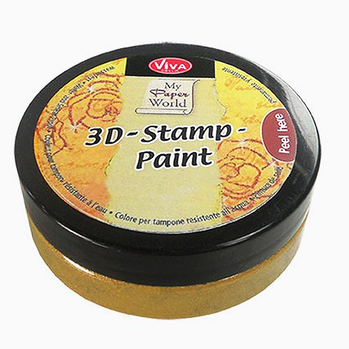 Viva Decor My PaperWorld - Tinta para Sellos (50 ml), Color Dorado