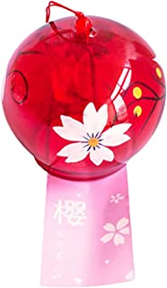 Flameer Many Options Clear Glass Hanging Wind Chimes Handmade Wind Bells Home Beautiful Decor - #8 Oriental Cherry, as described