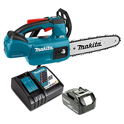 Makita DUC254 18V Brushless Chainsaw with 1 x 5Ah Battery & Charger