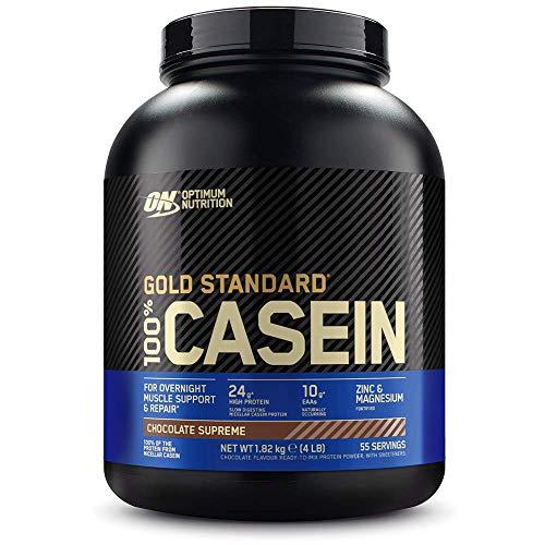 Optimum Nutrition Gold Standard Casein, Proteinas de Caseina en Polvo con BCAA Aminoacidos Esenciales, Zinc y Magnesio en Polvo, Chocolate, 55 Porciones, 1,82 kg, Embalaje Puede Variar ✅