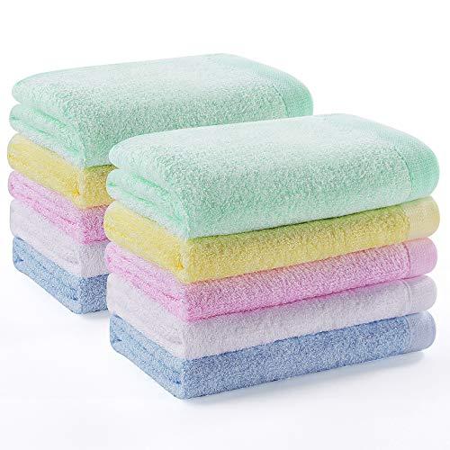 Grigio Scuro Molyflower Asciugamano per la Pulizia del Viso in Morbido Cotone Confortevole Home Hotel Uso Sportivo Asciugamano Assorbente Antibatterico per Il Viso da Bagno