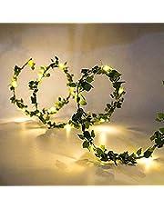 Gaosheng 2M 20 LED Fairy Lights String Ivy/Kunstmatige Wisteria Wijnstok Garland Planten Halloween Xmas bomen Tuinwerf Thuis Patio Bruiloft Party Slaapkamer Decoratie
