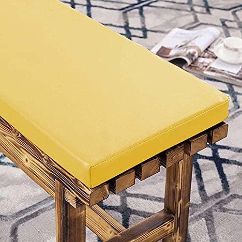 Cojín largo de banco de sofá, cojín de asiento de banco de jardín, impermeable, cojín de silla de 2 plazas para muebles de patio o banco de comedor para uso interior y exterior