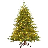 National Tree Company 'Feel Real lit Artificial Christmas Tree Includes Pre-Strung White Lights Frasier Grande-6.5 ft