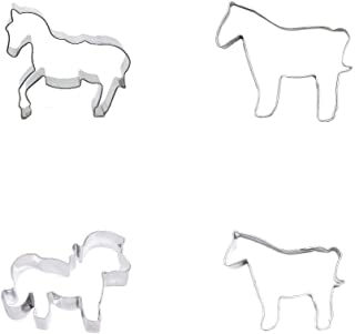 Ausstechformen-Set aus Metall, Motiv: Pferd, Pony, Kekse, Ge