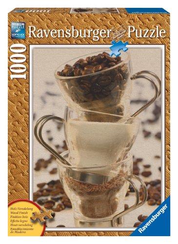 Ravensburger 19003 - Kaffee Stillleben - 1000 Teile Holzstruktur Puzzle