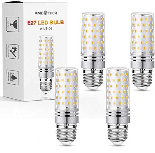 AMBOTHER E27 LED Glühbirnen, 16W 1600LM Warmweiß 3000K LED statt 120W Glühlampe, E27 Mais Lampen Birnen Maiskolben Leuchtmittel Kleine Kerze Licht, AC 220-240V Kein Flackern, 4er Pack