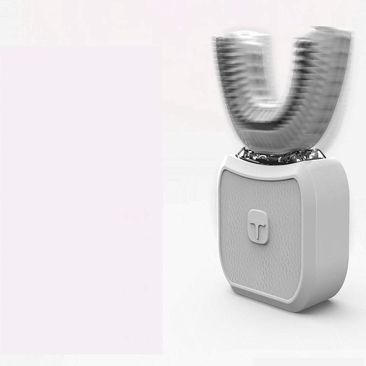 テニス校長飢饉自動歯ブラシ、全角360度、歯の汚れを落とし、歯を白くし、歯の健康を守る電動歯ブラシ,Grey