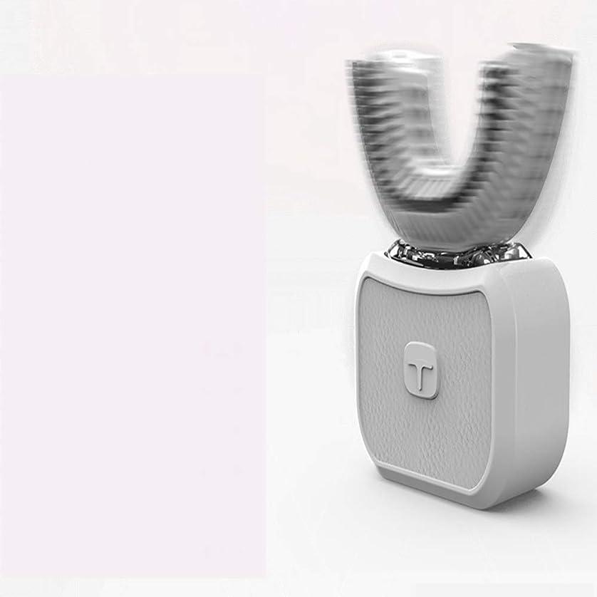 甲虫去る部分的自動歯ブラシ、全角360度、歯の汚れを落とし、歯を白くし、歯の健康を守る電動歯ブラシ,Grey