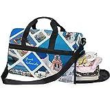 Dallonan - Bolsa de Deporte para Hombre, Grande, Verano, Isla Santorini, Grecia, Bolsa de Noche para Hombre con Compartimento para Zapatos para Mujer