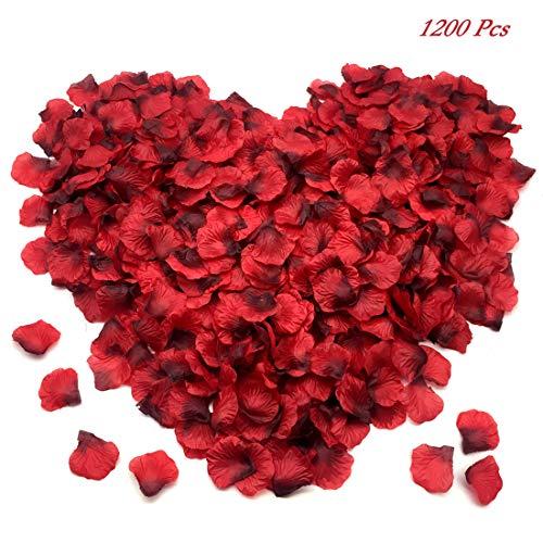 FUJIE 1200 Stück Rosenblüten Seide Rosenblätter Kunstblumen Konfetti für Romantische Atmosphäre...