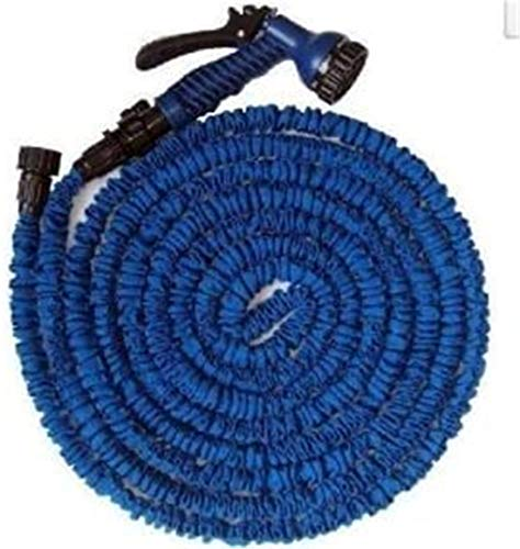Alittle New Magic Flexible Expandable Hose Pipe Light Weight Non Kink Water Spray Nozzle (Blue, 75 FT / 23 M)