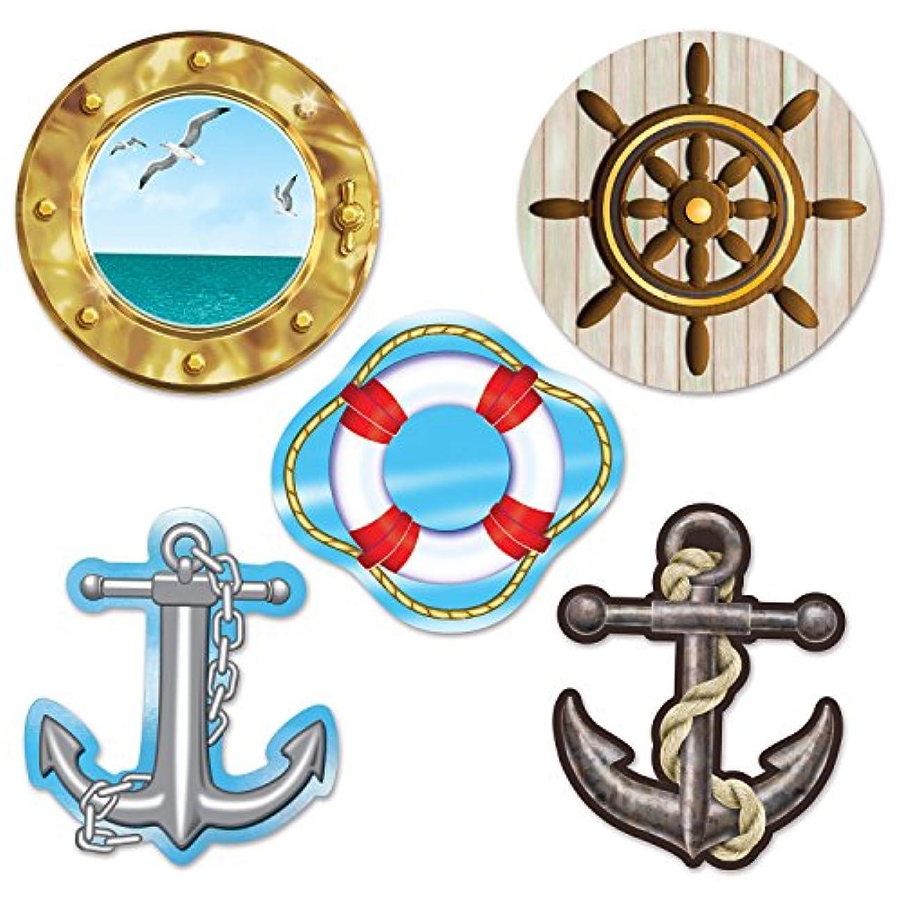 Beistle 54710 Mini Nautical Cutouts, 4