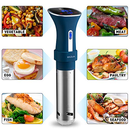 Baulia SV803 800W Sous Vide Cooker, Digital Thermometer with Accurate Temperature & Timer Control