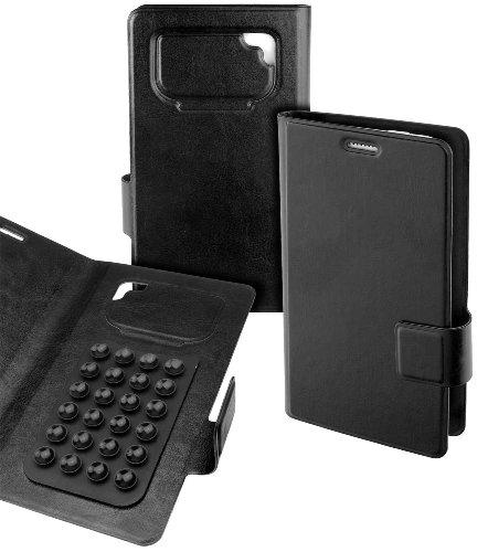 Teuthida Book Style Hülle Tasche für Yota YotaPhone 2 Handy Smartphone Etui Hülle Black Size XL