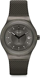 Sistem51 Stainless Steel Swiss Automatic Rubber Strap, Gray, 20 Casual Watch (Model: YIM401)