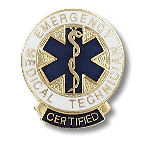 Medical Designation Pins for EMT, Paramedic & First Responders (Certified EMT Star of Life Pin)