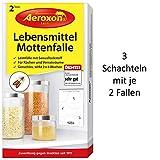 Aeroxon - Lebensmittelmottenfalle - Geeignet zur Mottenbekmpfung und als Mottenschutz - 6 Fallen