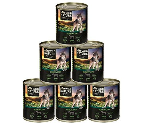 Dehner Wild Nature Hundefutter Adult, Bergweide, 6 x 400 g (2,4 kg)