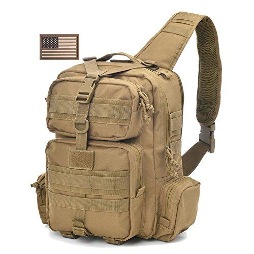 REEBOW Tactical Sling Bag Pack Military Sling Backpack Assault Range Bag
