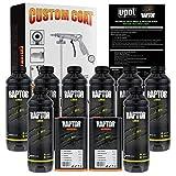 U-Pol Raptor Tintable Urethane Spray-On Truck Bed Liner Kit and Custom Coat Spray Gun with Regulator, 8 Quart Kit