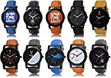 Package includes: 10 watches box Display Type: Analogue; Movement Type: Quartz; Clasp Type: Buckle Casual, party, formal wear piece Winner Winner Chicken Dinner Wordings Pubg watch Japanese quartz movement