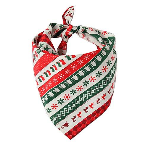 MMGCLätzchen Weihnachten Haustier Speichel Handtuch Baumwolle Dreieck Schal Hund Schal Katze Lätzchen Schmuck