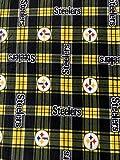 Fleece Print Pittsburgh Steelers Plaid 58 Inch Wide Fabric by the Yard (F.E.