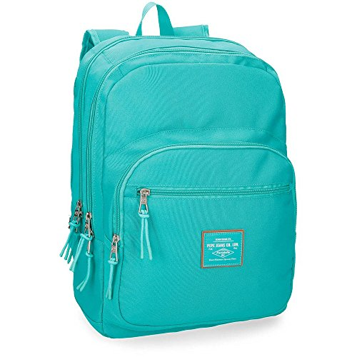Pepe Jeans Cross Mochila adaptable a carro, doble compartimento, 44 cm, color Verde