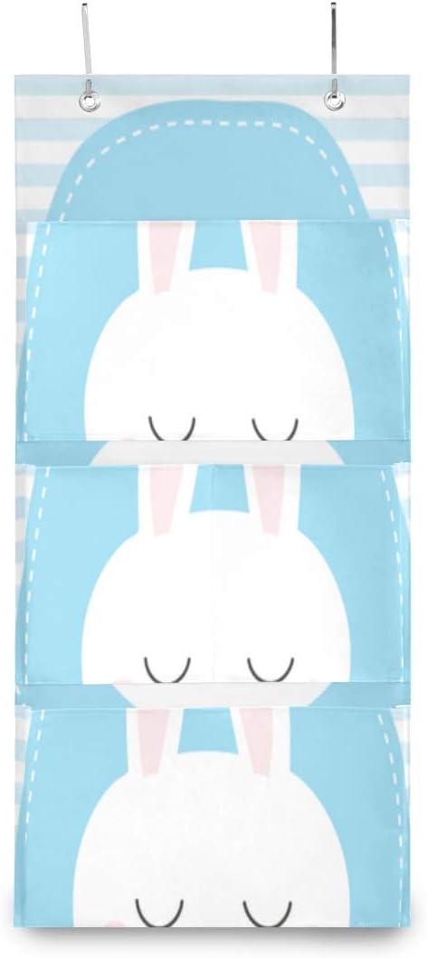 Max 81% OFF XDCGG Hanging Storage Bag Cute Tulsa Mall Bunny Cartoon Baby Pattern Little