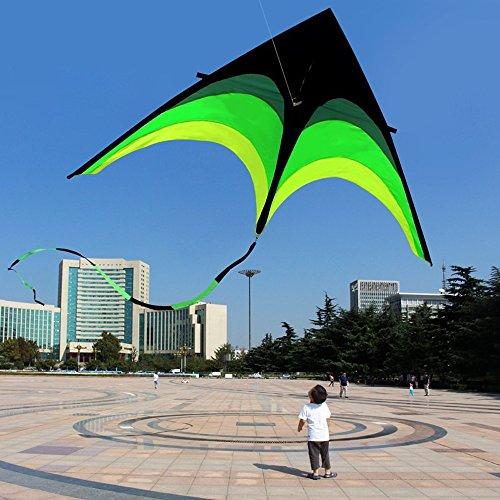 FDGBCF 160cm Súper Enorme Cometa línea Stunt Kids Cometas Juguetes Vuelo de la Cometa de la Cola Larga Regalos de la diversión Deportes al Aire Libre Cometas educativos para Adultos
