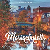 """Massachusetts 2022 Calendar: 12-month Calendar - Square Small Gorgeous Calendar 7x7"""" for planners with large grid for note"""