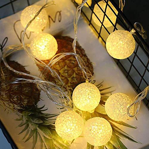 xmksd - Guirnalda de luces LED con USB, funciona con pilas, para interiores, dormitorios, exteriores, jardín, decoración de hadas, decoración de Navidad, luces de luciérnaga, color