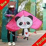 Kyman Cometa, Cometa Niños Cometas Hermosas for los niños fácil de Volar for la Playa de Calidad al Aire Libre Prueba de desgarros Panda Breeze (Color: Rosa) (Color : Pink)