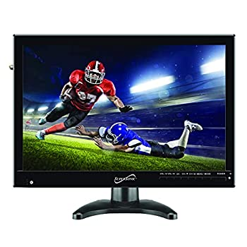 SuperSonic SC-2814 Portable Digital LED TV 14  with USB SD and HDMI Input  Built-in Rechargeable Lithium Ion Battery and FM Radio with Included Stand