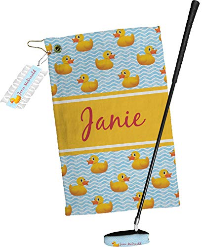 Sale!! YouCustomizeIt Rubber Duckie Golf Towel Gift Set (Personalized)