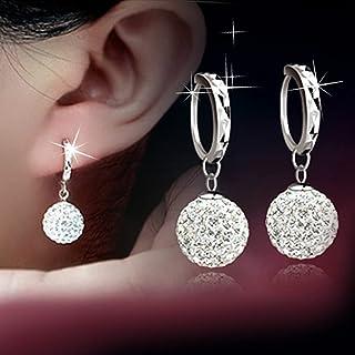 Women Lady Girl Love Elegant Ball Earrings Fashion Simple Shiny Earrings for Women Girls Party