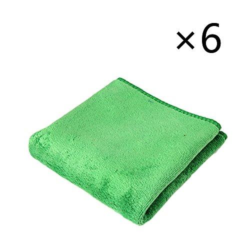 Meipro autowasstraat, microvezel reinigingsdoekjes en reinigingsspons groen × 6.