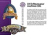 EnRoute Logiciel CNC, Abonnement de 6 Mois, Logiciel de Conception CAO / FAO pour machines CNC, Conception et Parcours d'outil 2D et 3D, GCODE (Code d'Enregistrement et Téléchargement du Logiciel)