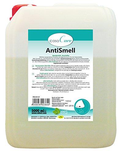 cdVet Produit naturel casaCare AntiSmell 5 l – élimine les odeurs organiques – odeurs – urine + excréments + réservoir de litière pour chat – Utilisable contre la fumée de cigarette, la sueur et les déchets – Naturel