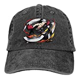 BKOGAL Man Woman Adjustable Cotton Denim Baseball Cap Anime Bleach Madarame Ikkaku Hip Hop Caps