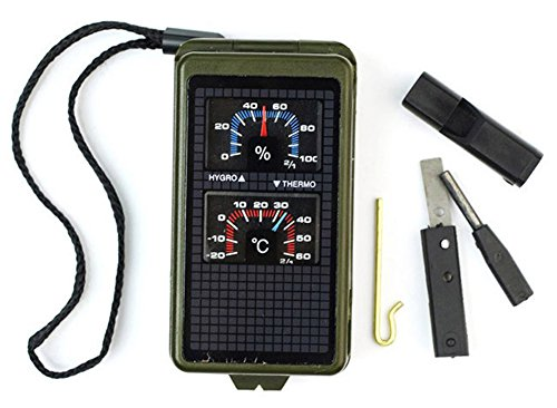 SaySure - 10 in1 Survival Multi Tool Compass Flint Thermometer