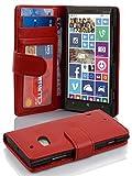 Cadorabo Hülle für Nokia Lumia 929/930 in Inferno ROT – Handyhülle mit Magnetverschluss & 3 Kartenfächern – Hülle Cover Schutzhülle Etui Tasche Book Klapp Style