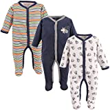Luvable Friends Unisex Baby Cotton Sleep and Play, Dog, 0-3 Months